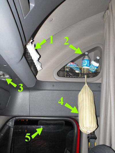 Passenger Seat overhead area