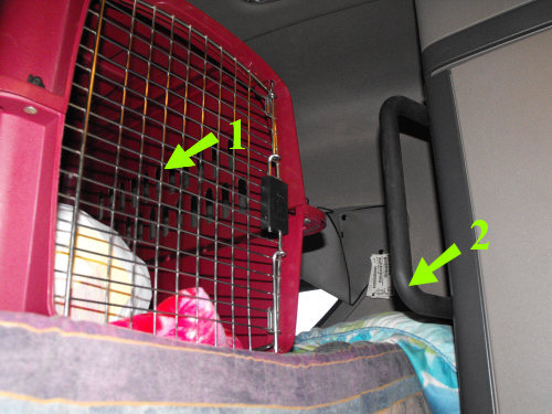 Driver's side of Stace's bunk