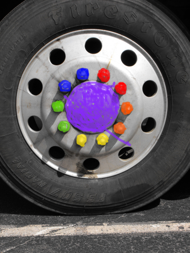 Artist's recreation of Hedon's lugnut covers