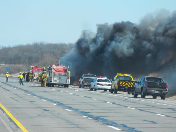 Truck fire in Ohio