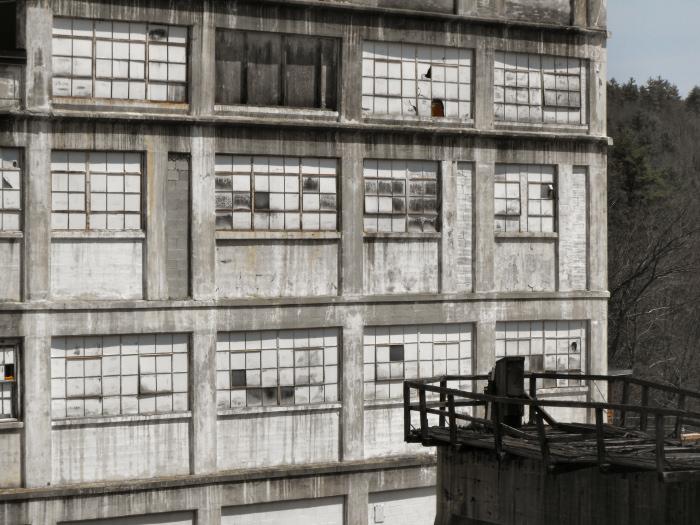 Massive Milton factory and train trestle